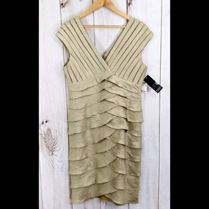 Adrianna Papell Gold Holiday Dress